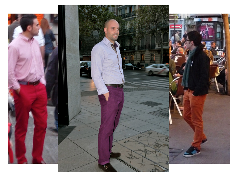 Men Purple Pants