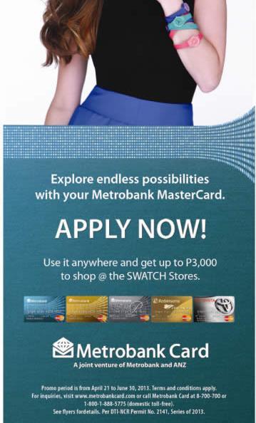 Metrobank MasterCard, Swatch Promo, metro