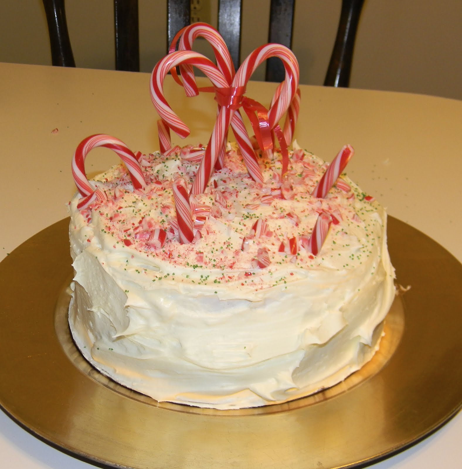 Christmas Cake Decorating Step By Step : Step by Step in the kitchen: Candy Cane Cake for Christmas!