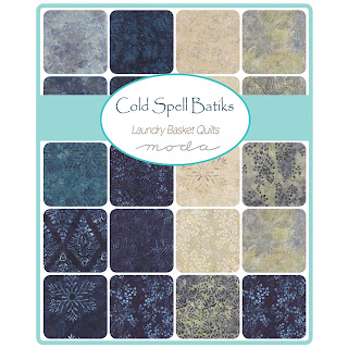 Moda COLD SPELL Batiks & Prints Fabric by Laundry Basket Quilts for Moda Fabrics