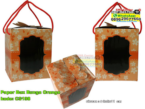 Paper Box Bunga Orange
