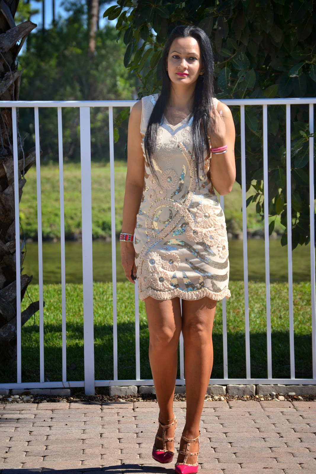 sequin tank dress lovelywholesale stud pink shoes romwe www.sandysandhu.co