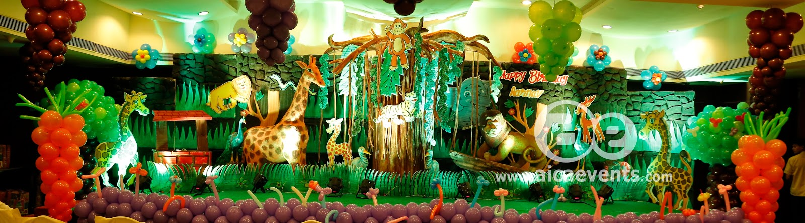 aicaevents Jungle Theme Birthday party Decorations
