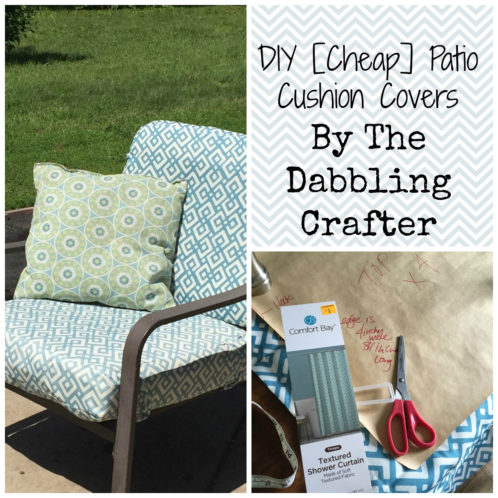 The Dabbling Crafter DIY Sunday Covering Patio Cushions