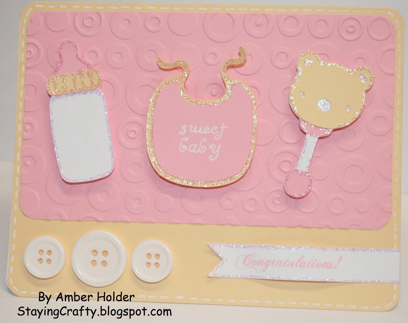 Staying Crafty Baby Girl Card