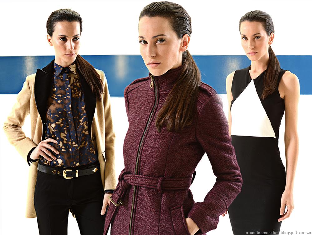 Mancini colección otoño invierno 2014, moda en tapados, sacos, pantalones de vestir, blusas y vestidos de invierno 2014.