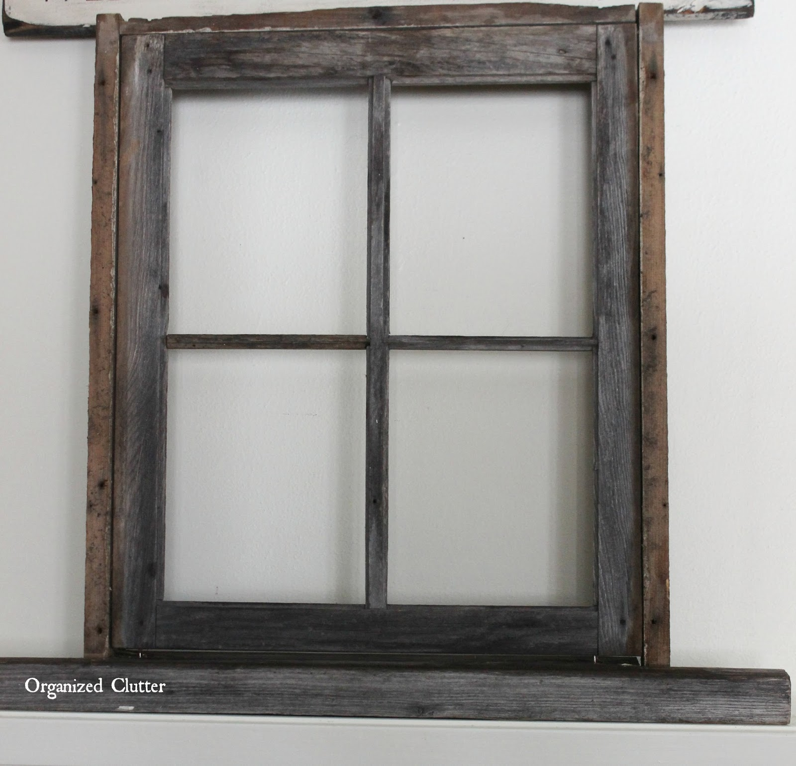 Winter wonderland christmas mantel 2015 organized clutter for Using old windows as picture frames