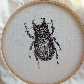 beetle machine embroidery