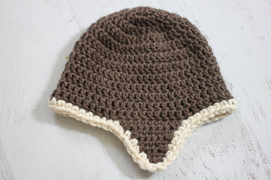 Crochet Aviator Hat Free Pattern Aviator goggle pattern: