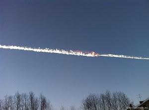 Meteoritos atingem a Rússia