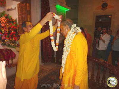 Jagadguru Shree Kripaluji Maharaj's visit to Prem Mandir temple, Vrindavan