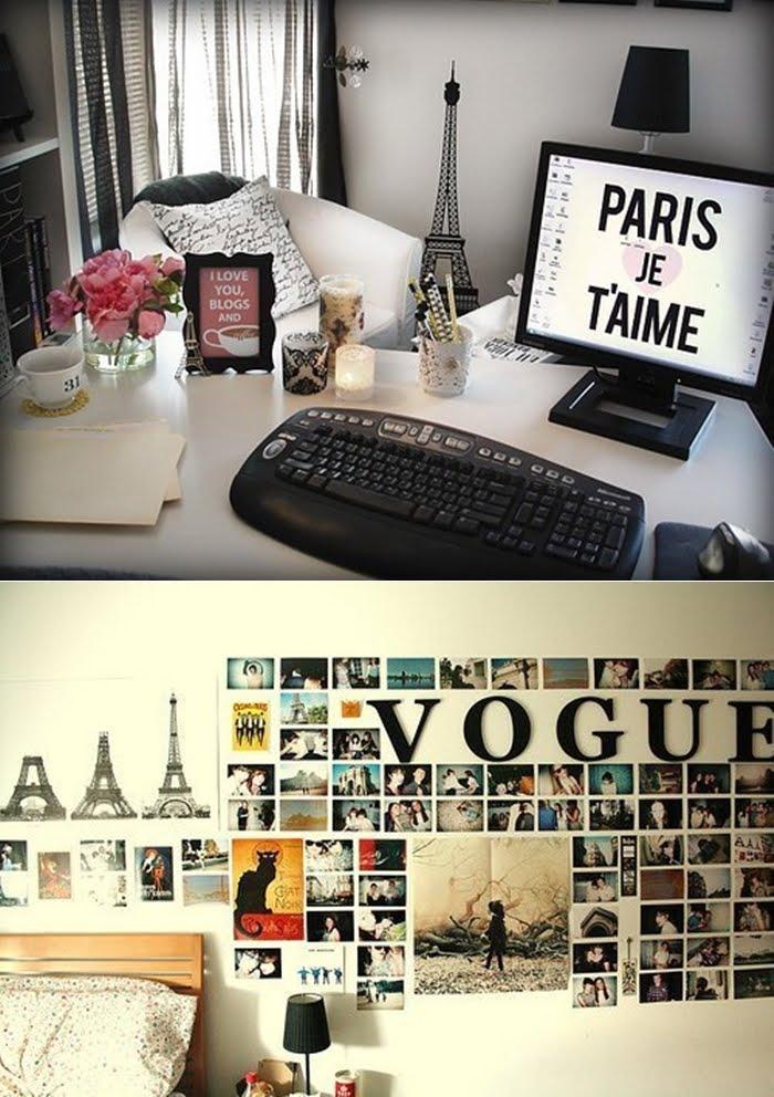 Well-known Alces Voadores: Decoração de quarto inspirado em Paris UJ82