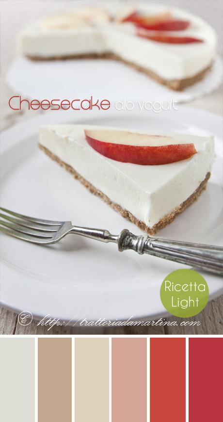 Cheesecake allo yogurt light e senza cottura