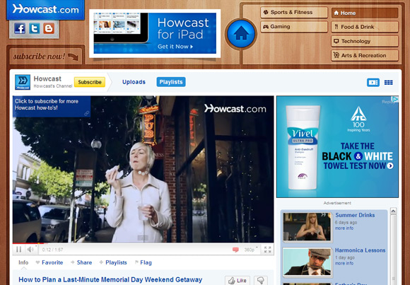 Howcast Top 10 Best How To YouTube Video Channels