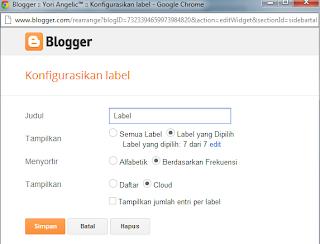 Cara merubah Tampilan Label Cloud