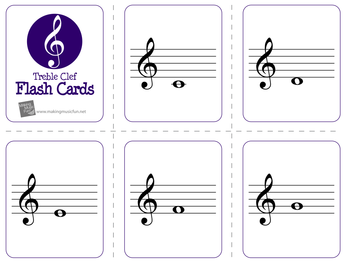 Candid image pertaining to printable music flashcards