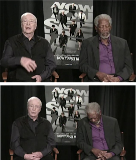 Morgan Freeman, Sleeping, Morgan Freeman falls asleep during TV interview, Now You See Me,