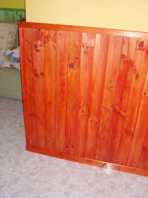 Padrino carpintero machimbrado de paredes - Pintura para madera barnizada ...
