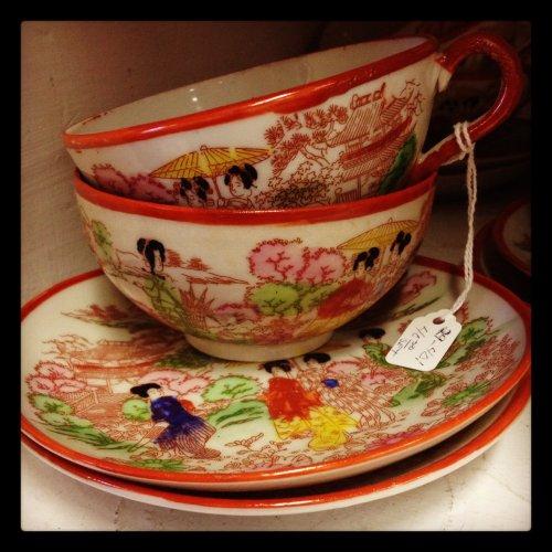 Antique Japanese Tea Cups