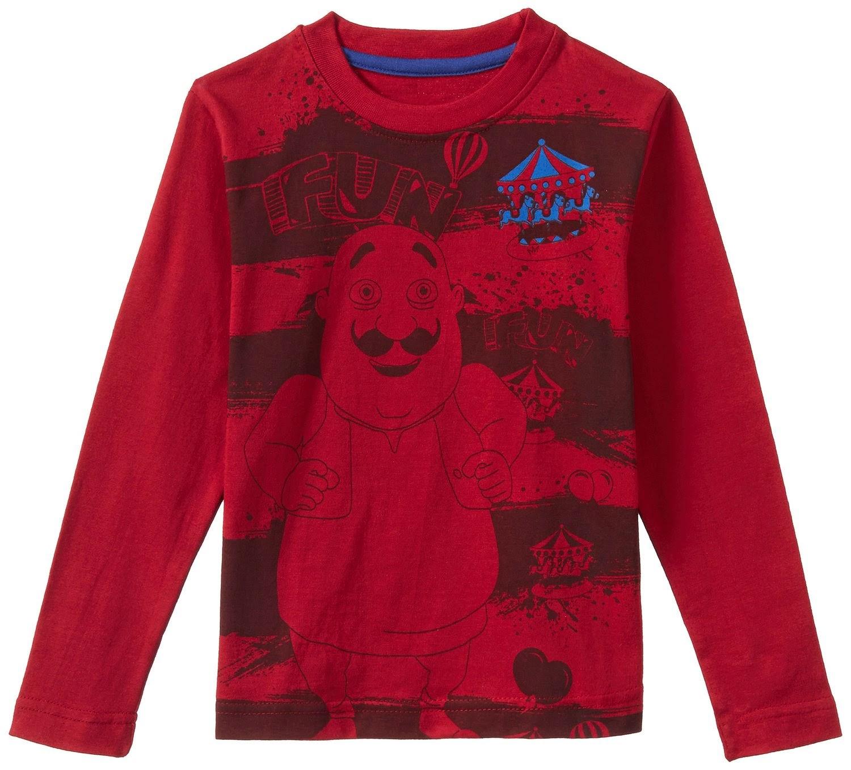 Buy Motu Patlu Boy's T-Shirt Rs. 199 only at Amazon.