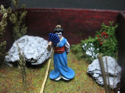 Detalle frontal de la geisha.