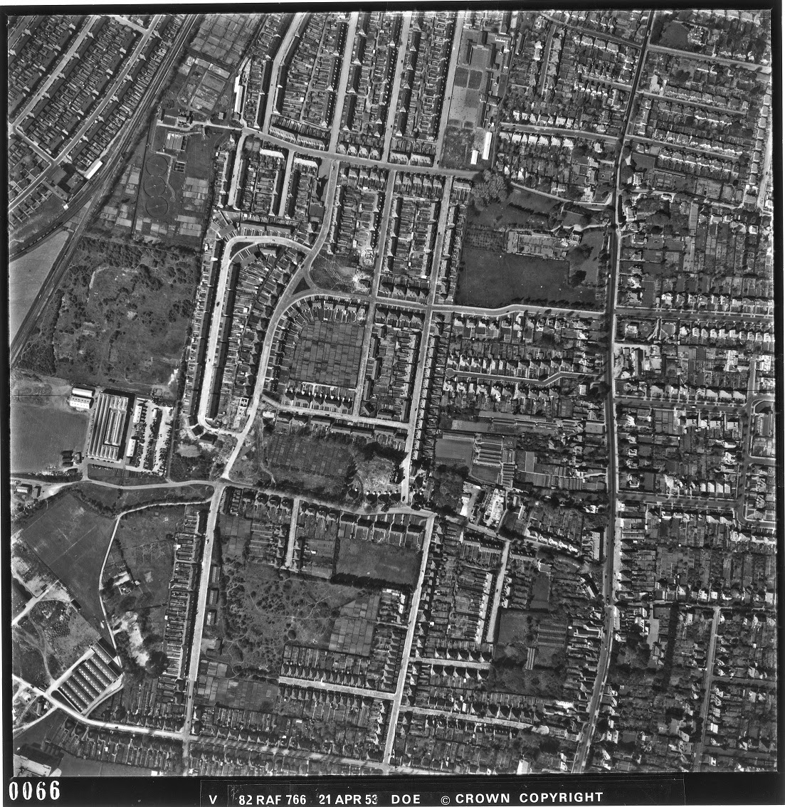 Aerial View Cosham and Drayton 1946