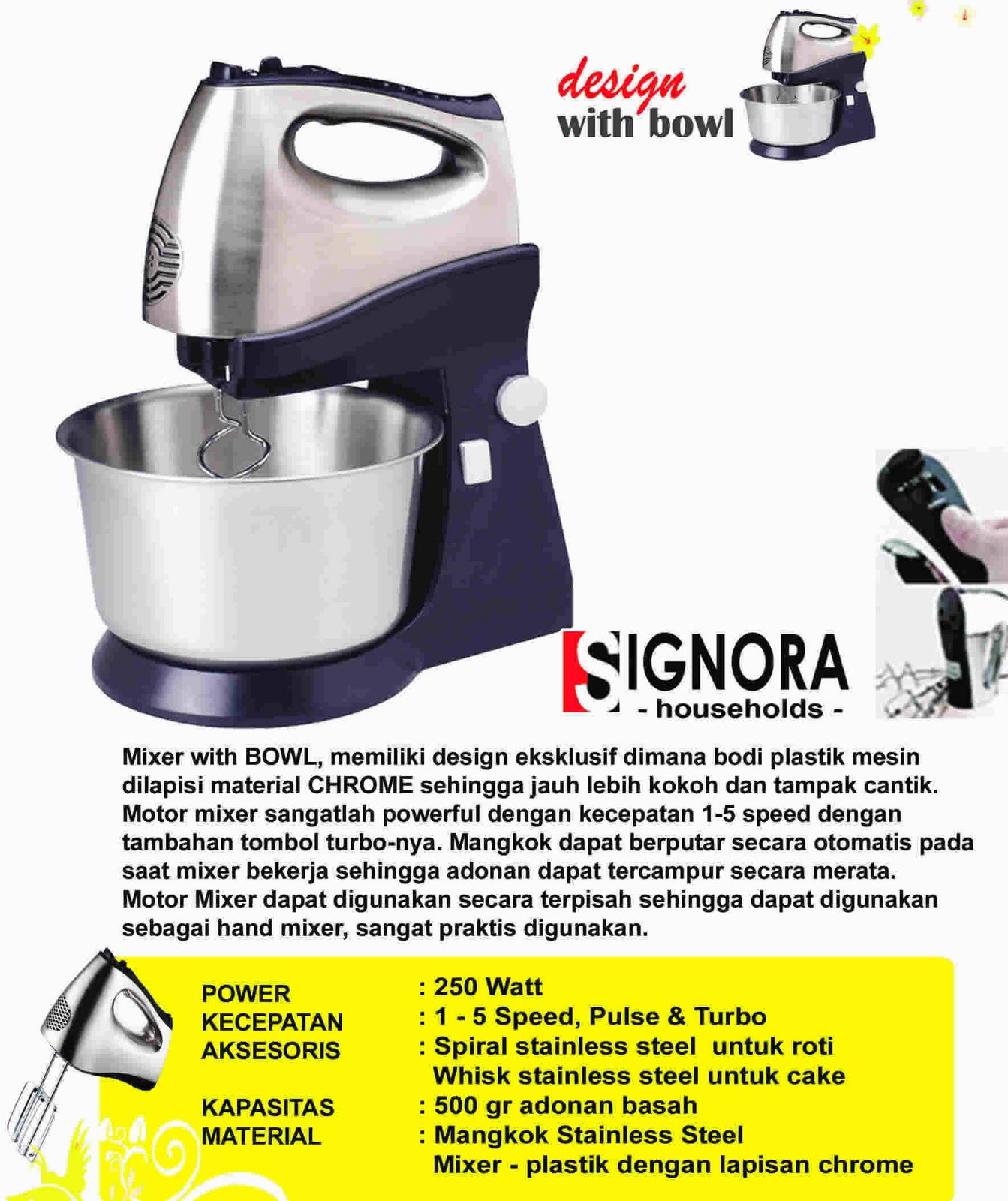 New Products Signora Mixer Noodle Maker Motor