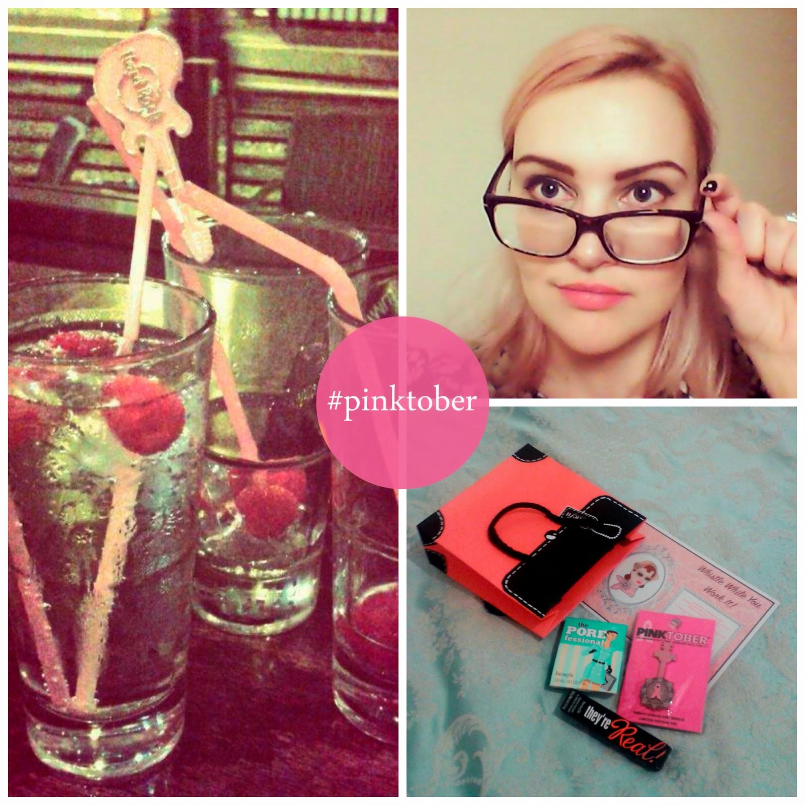 Hard Rock Cafe, Hard Rock Edinburgh, Blogger Event, Scottish Bloggers, Edinburgh bloggers, pinktober, #pinktober, cocktails, goody bags, benefit cosmetics, benefit make up, eyebrows