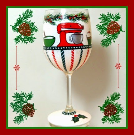Kitchen Aid Themed Stand Mixer Wine Glass