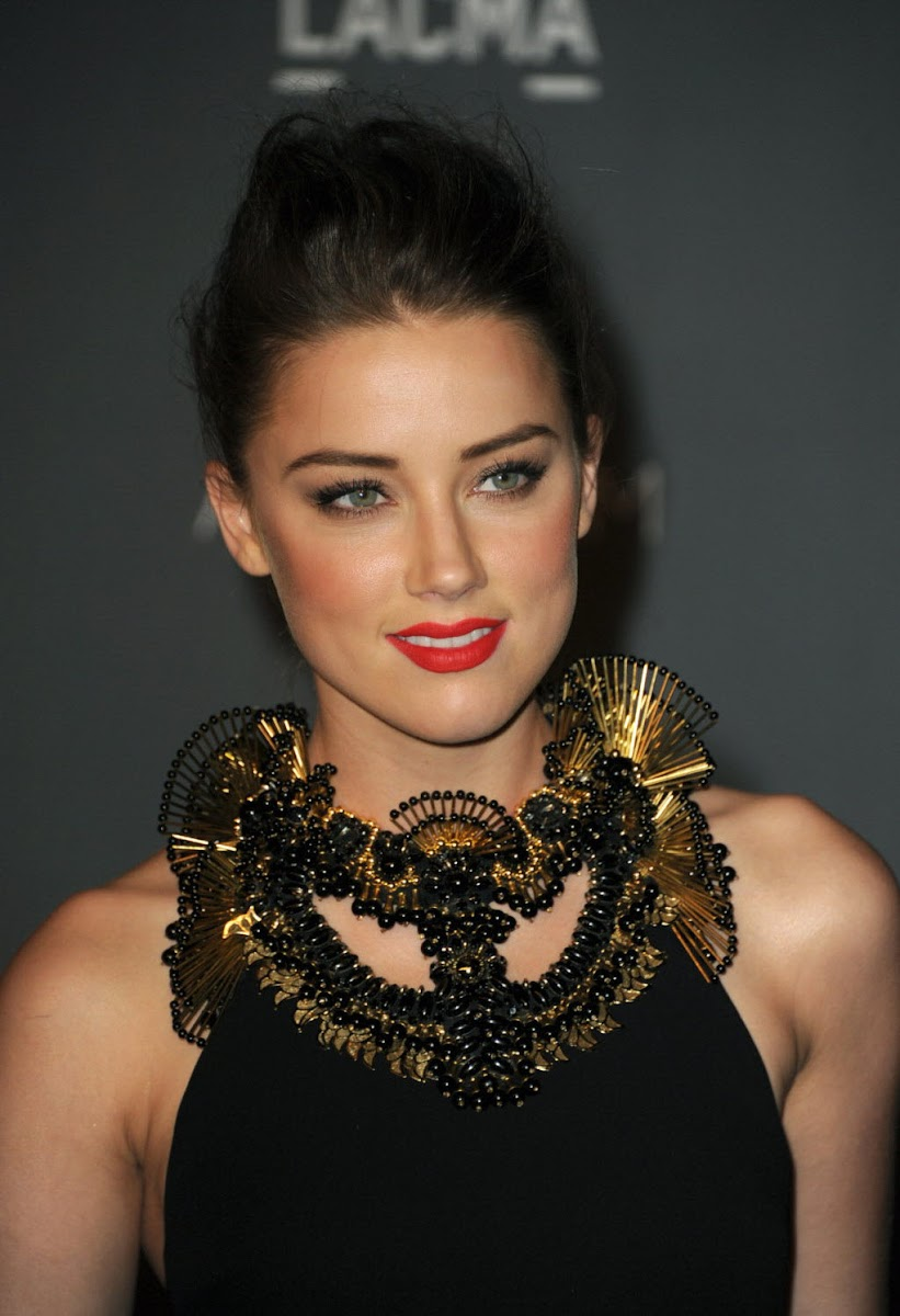 Amber Heard Photos in Black Skirt at LACMA Art Gala