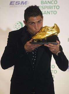 Cristiano Ronaldo recibió el botín de Oro Europeo