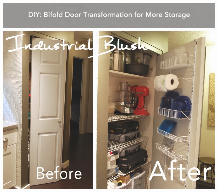 Industrial Blush Diy Bifold Door Transformation For More Storage