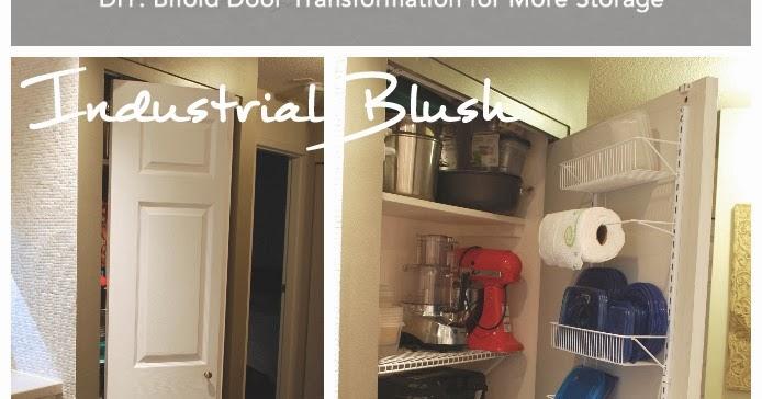 Industrial Blush Diy Bifold Door Transformation For More