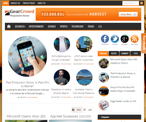 Share Template Blogspot tin tức đẹp
