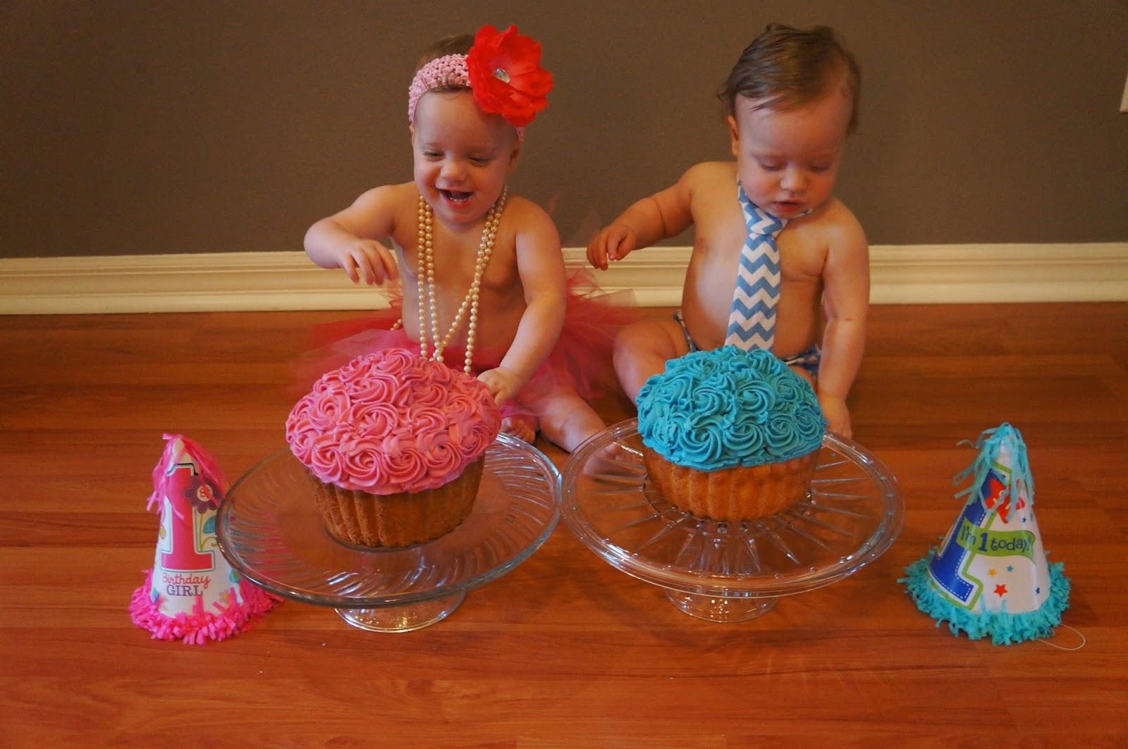 My Twinspirational Journey The Twins 1st Birthday Cake Smash Photo