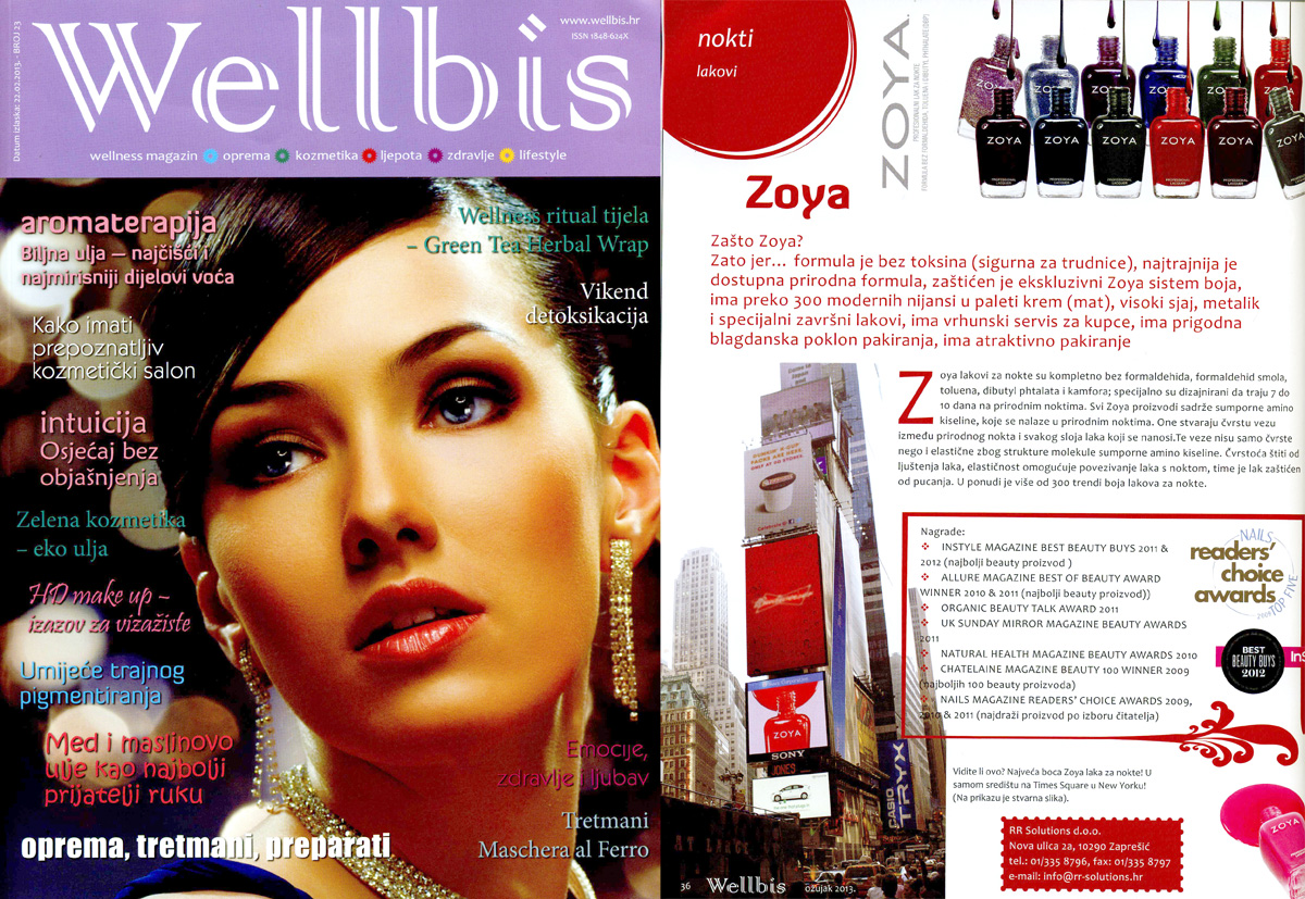 Why Zoya Nail Polish? Croatian Magazine Wellbis Tells All! | Zoya ...