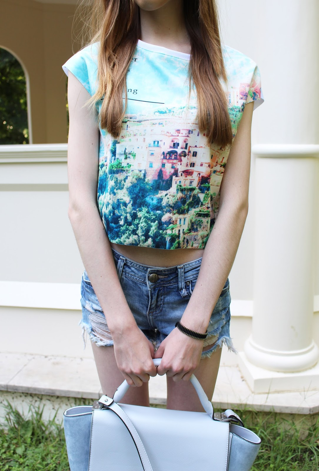 bershka zara fashion style outfit pastel crop top