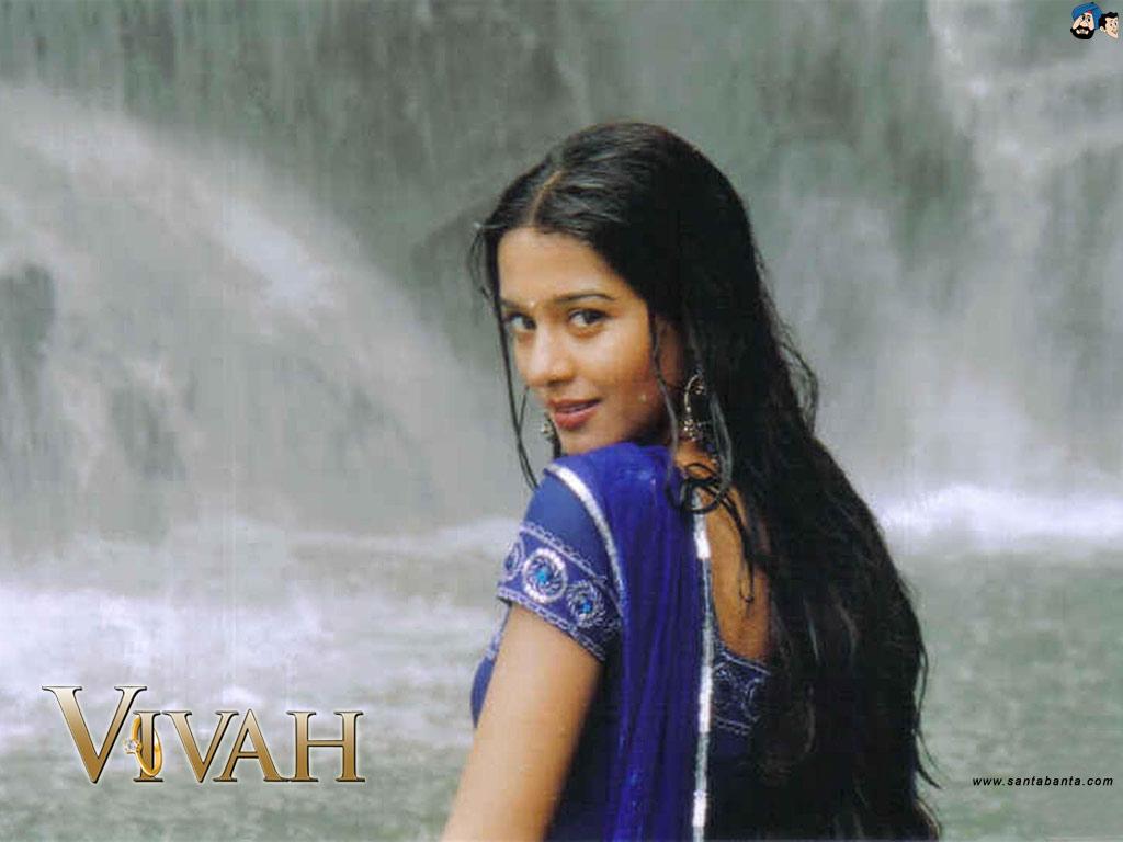 amrita rao and shahid kapoor in vivah movies photoshoot