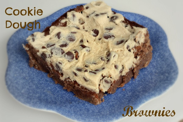 Brownies with Cookie Dough Icing
