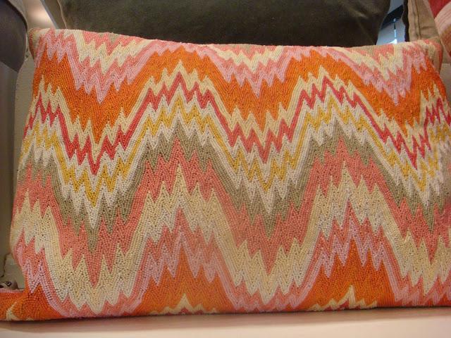 Beaded Bargello pillow captures attention of Buckhead Atlanta interior designer