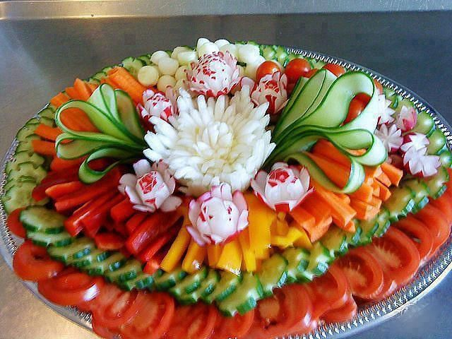 Salad arrangement ideas