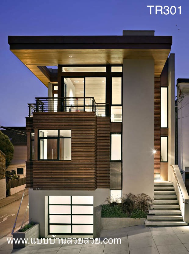 แบบบ้านสวย บ้าน 3 ชั้น  TR301
