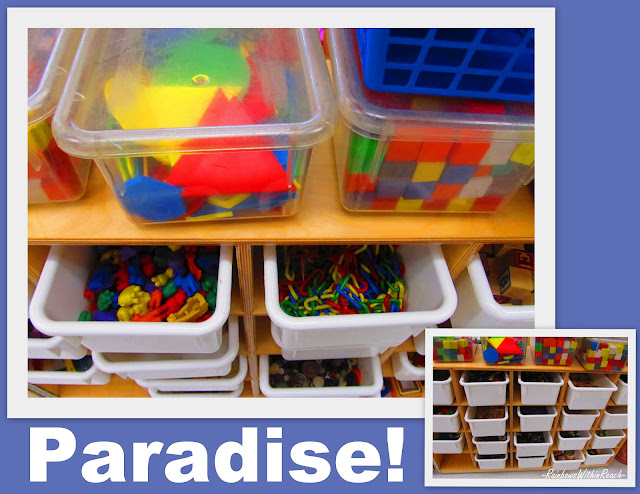 photo of: Organize teacher supplies, kindergarten organization, teacher materials organization