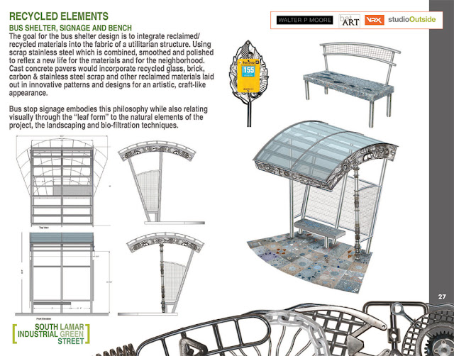 L.I.D. low impact design bus shelter, bus signage, benches pavers presentation team proposal bruce taylor