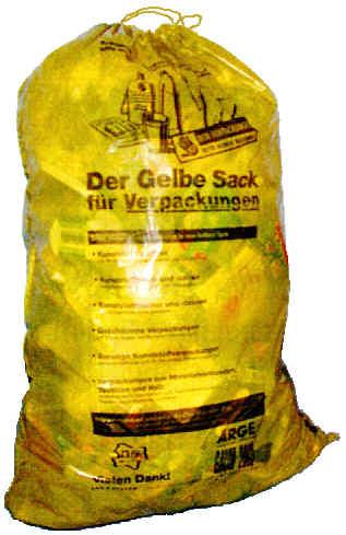 Adjunctivitis for Halterung gelber sack