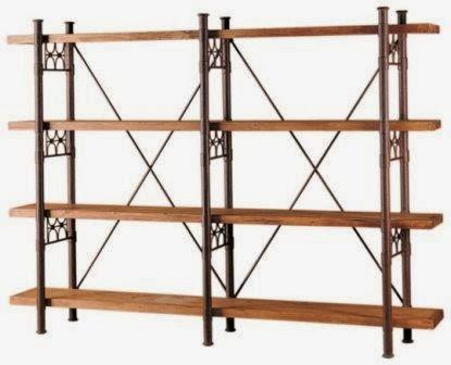 Estanteria forja y madera, estanteria de forja rustica