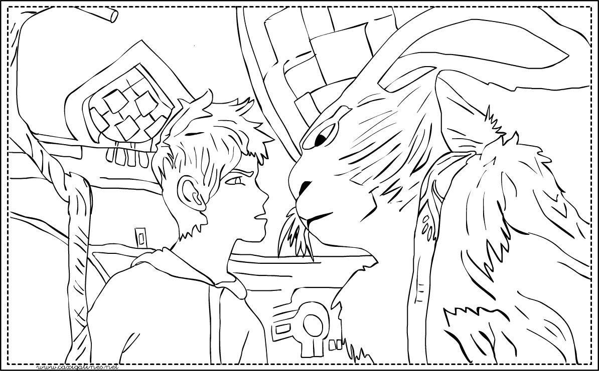 Dibujo de Jack Frost y el conejo de pascua para colorear ~ Colorea ...