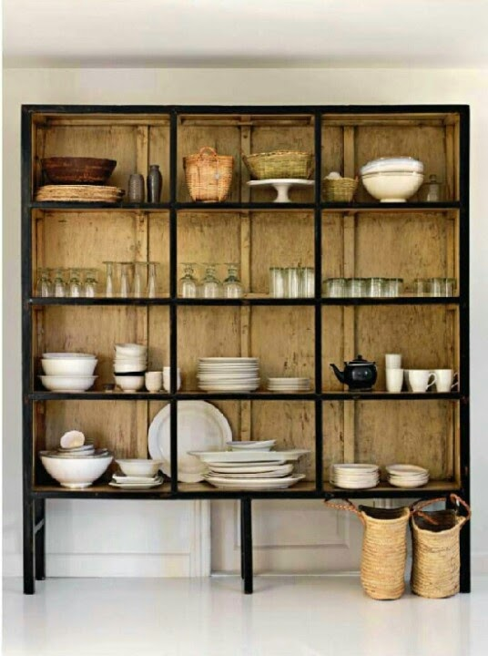 A Perfect Gray Vintage Metal Cabinets