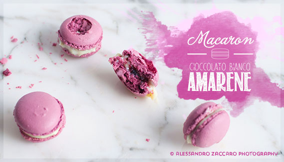 macarons cioccolato bianco e amarene fabbri • french macarons with white chocolate ganache and fabbri black cherry