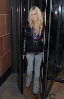 Tara Reid spotted in London leaving Cipriani restaurant